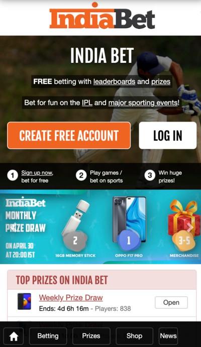 Indiabet-homepage